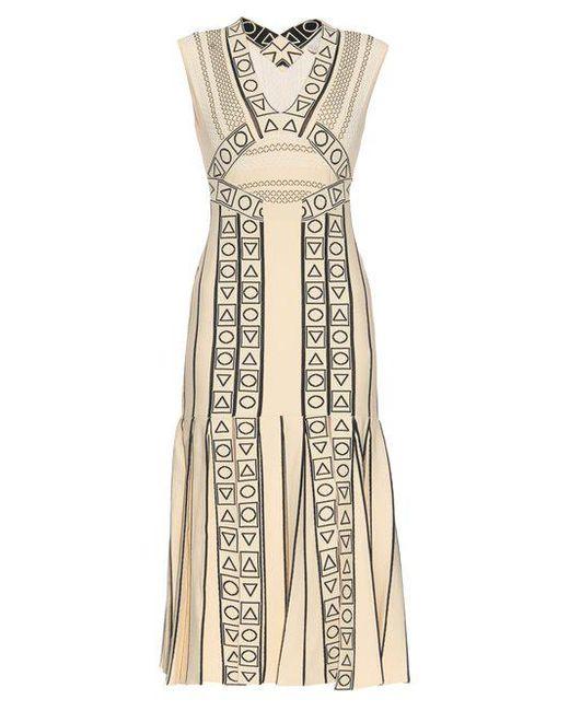 Peter Pilotto - Natural Indix V Neck Jersey Dress - Lyst
