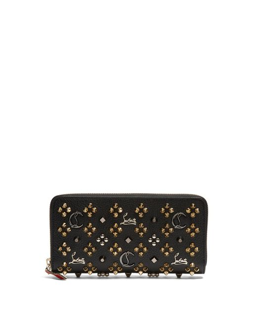 Christian Louboutin - Multicolor Panettone Embellished Zip Around Leather Wallet - Lyst