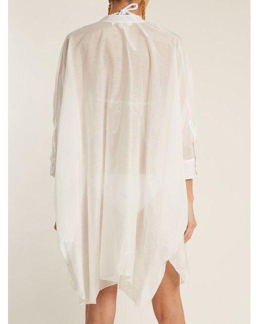 1801 V-neck cotton and silk-blend kaftan Lila.Eug M7yxH