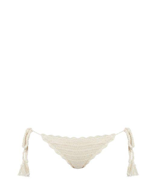 Anna Kosturova - Natural Crochet Bikini Briefs - Lyst