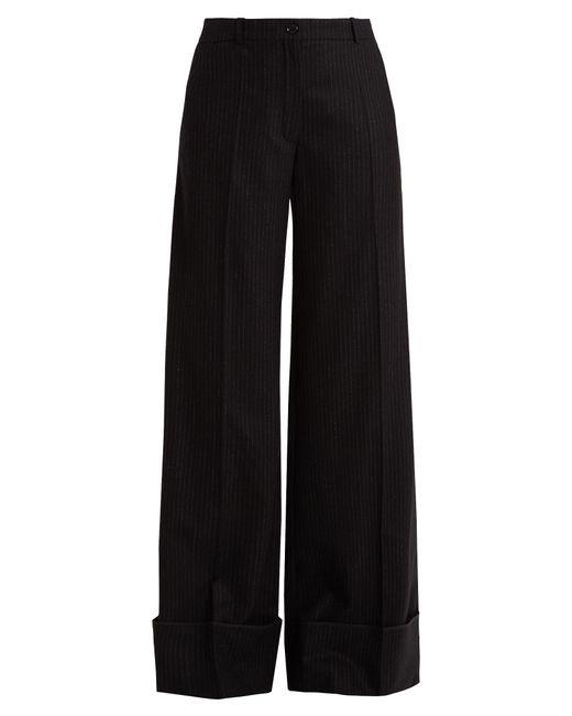 Nina Ricci   Blue Pinstriped Wide-leg Stretch-wool Trousers   Lyst