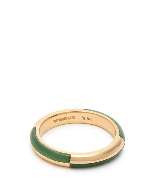 Marc Alary - Metallic Deco 18kt Gold & Chrysoprase Ring - Lyst