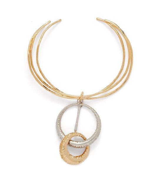 Givenchy Metallic Eclipse Two Tone Ring Necklace