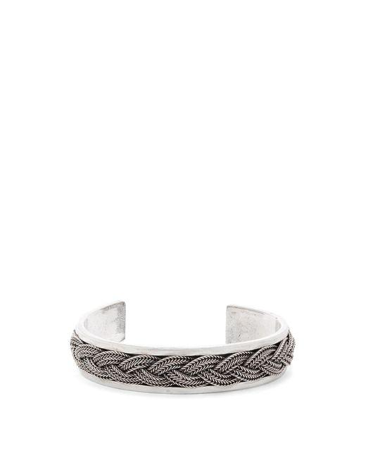 Emanuele Bicocchi | Metallic Braided Sterling-silver Cuff for Men | Lyst