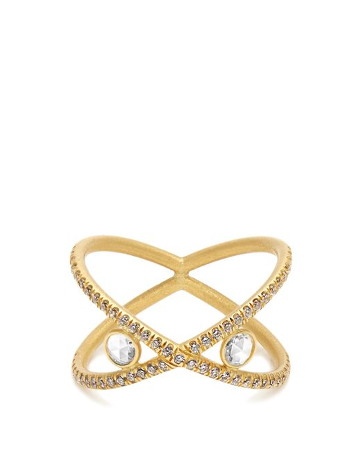 Susan Foster | Metallic Diamond & Yellow-gold Ring | Lyst
