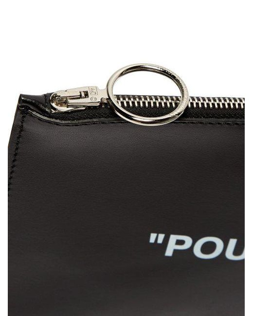 Quote leather pouch Off-white TIoqZ