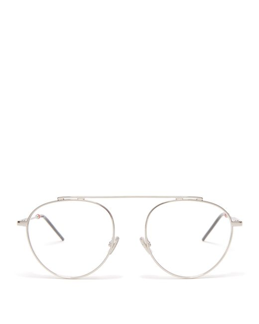 3c3e5571f3 Dior Homme - Metallic Round Metal Glasses for Men - Lyst ...