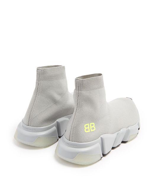 5fb7852179e5 ... Balenciaga - Gray Light Grey Speed Knit Slip-on Sneakers - Lyst ...