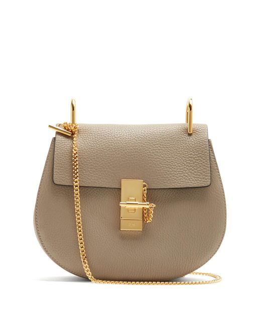 Chloé | Gray Drew Small Leather Cross-body Bag | Lyst