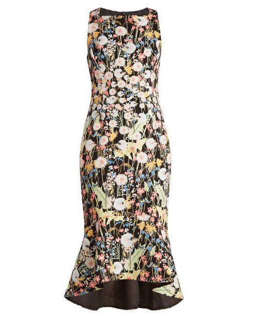 Comfortable Floral-print cady midi dress Peter Pilotto In China For Sale Very Cheap Online 11f7c