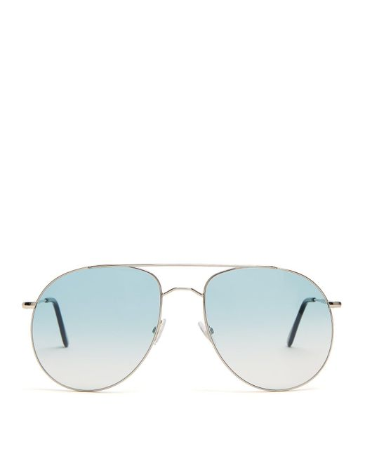 Andy Wolf - Blue Anatol Oversized Aviator Sunglasses for Men - Lyst
