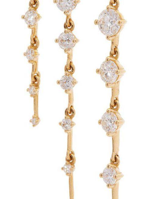 Fernando Jorge Sequence 18kt gold and diamond hoop earrings lkKK654