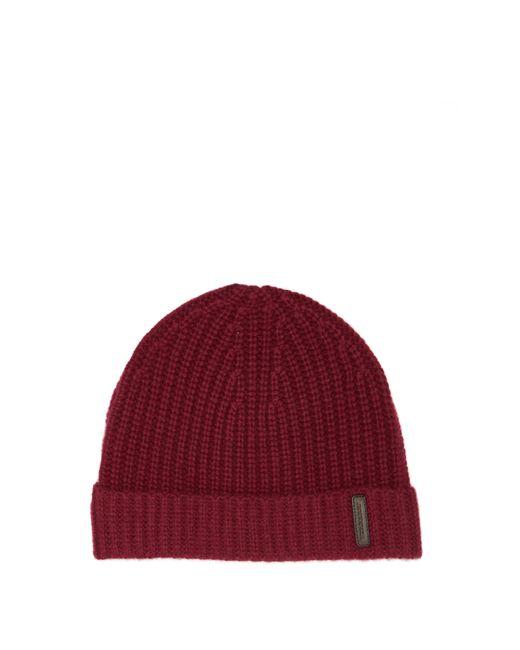 Burberry - Red Bonnet en cachemire à empiècement logo for Men - Lyst
