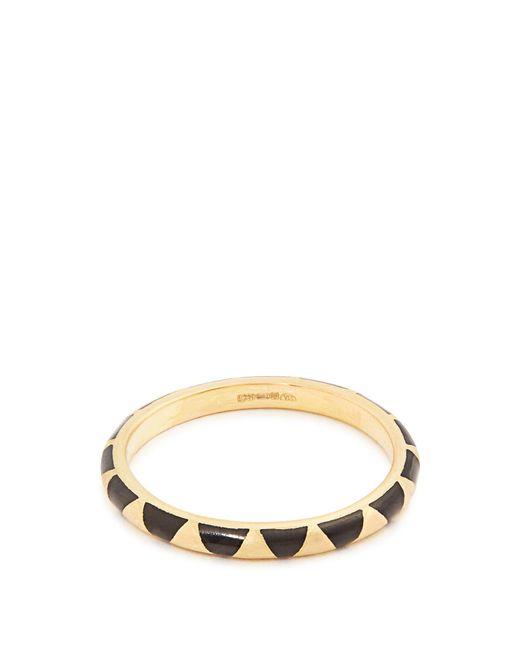 Marc Alary   Black Enamel & Yellow-gold Ring   Lyst