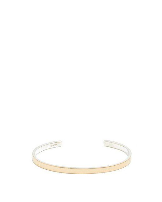 Miansai - Metallic Fusion Gold And Sterling-silver Cuff for Men - Lyst