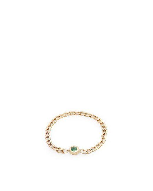 Loren Stewart - Metallic Emerald & Yellow-gold Chain Ring - Lyst