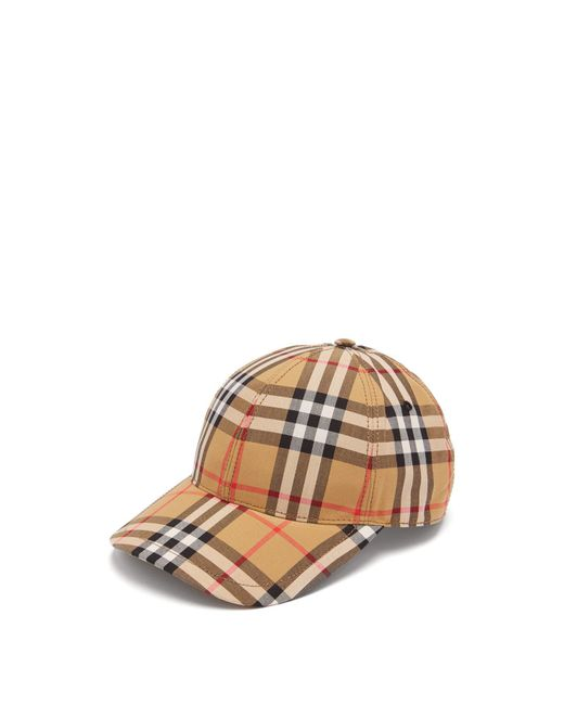 Burberry - Multicolor House Check Wool Baseball Cap for Men - Lyst