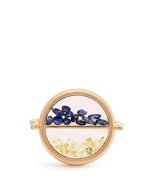 Aurelie Bidermann - Metallic Sapphire, Peridot & Yellow Gold Ring - Lyst