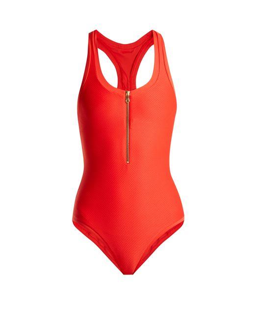Heidi Klein - Red Puglia Racerback One-piece Swimsuit - Lyst