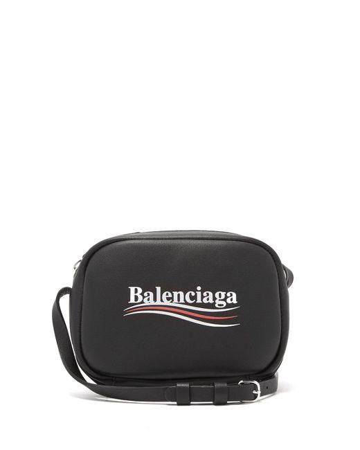 Balenciaga - Black Everyday Leather Cross-body Bag - Lyst