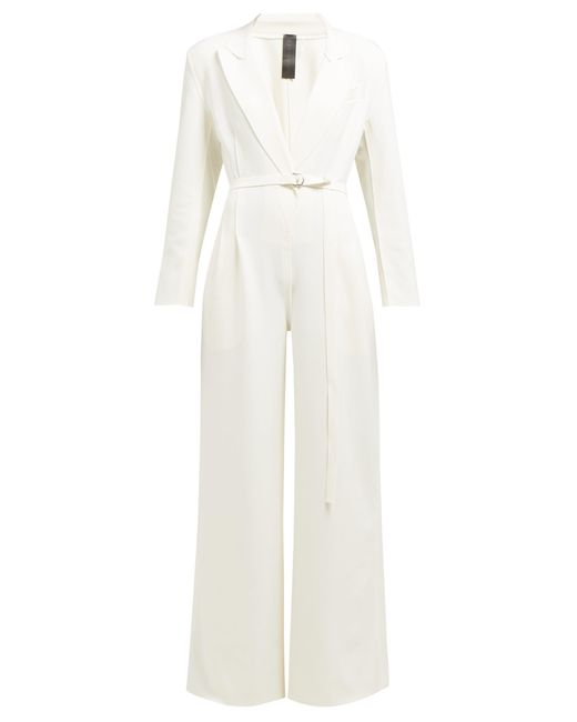 Norma Kamali - White Single Breasted Jumpsuit - Lyst