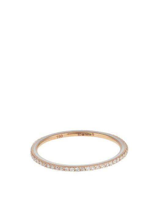 Raphaele Canot - Skinny Deco Diamond, Enamel & Pink-gold Ring - Lyst