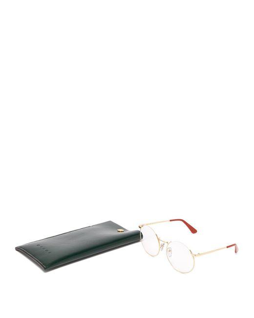 ffc06e260df ... Marni - Metallic Oversized Round Frame Glasses - Lyst ...
