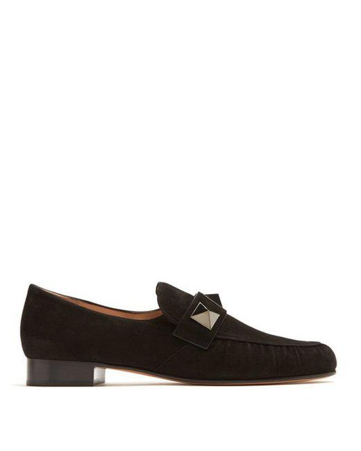 Valentino Stud-Embellished Suede Loafers cheap shop brand new unisex sale online sale reliable how much cheap price bmTz93mQ