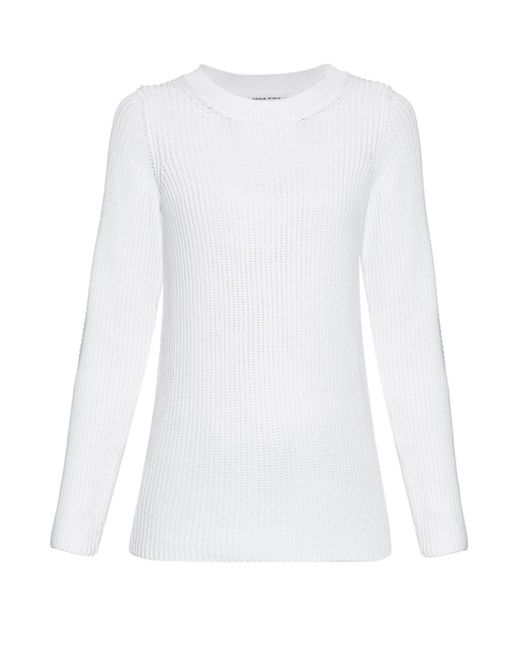 Sonia Rykiel - White Chunky-knit Back-overlay Sweater - Lyst