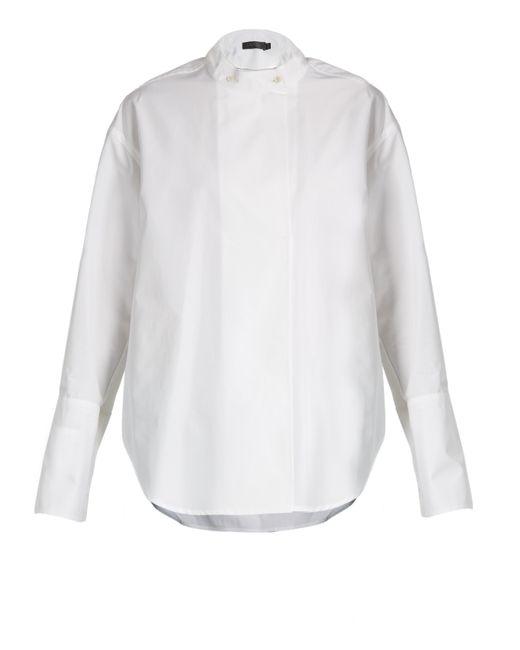 Calvin Klein | White Larabee Granddad-collar Cotton Shirt | Lyst