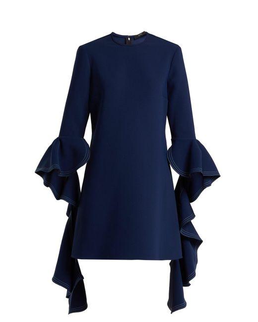 Ellery - Blue Kilkenny Ruffle-sleeves Shift Dress - Lyst