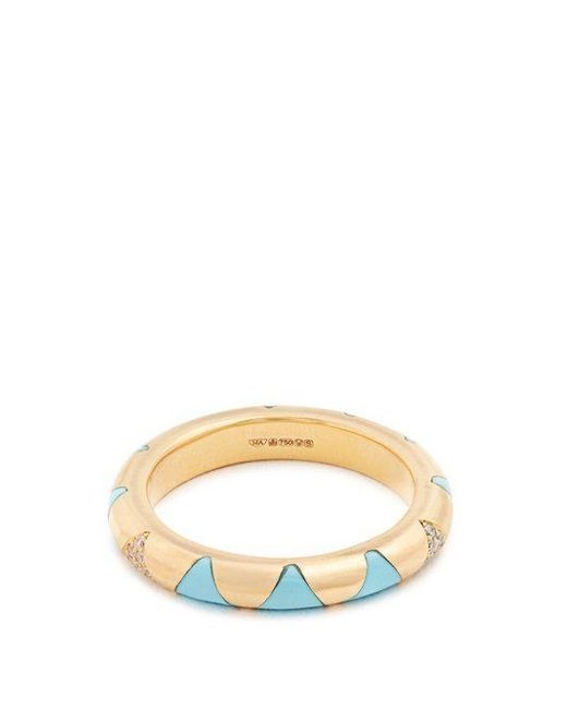 Marc Alary - Blue Diamond, Turquoise & Yellow-gold Ring - Lyst