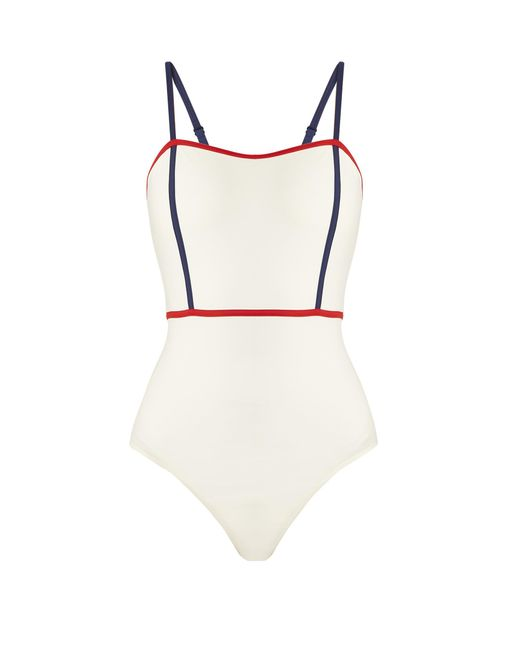 Solid & Striped | Multicolor The Lexi Contrast-trim Swimsuit | Lyst