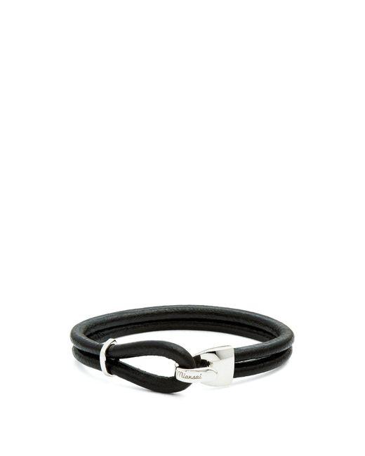 Miansai - Black Beacon Leather Bracelet for Men - Lyst