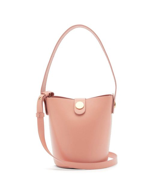 Sophie Hulme - Pink Nano Swing Leather Bucket Bag - Lyst