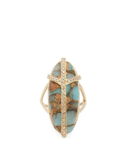 Jacquie Aiche | Metallic Diamond, Turquiose & Yellow-gold Ring | Lyst