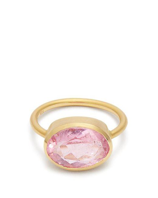 Irene Neuwirth - Multicolor - Tourmaline & Rose Gold Ring - Womens - Pink - Lyst