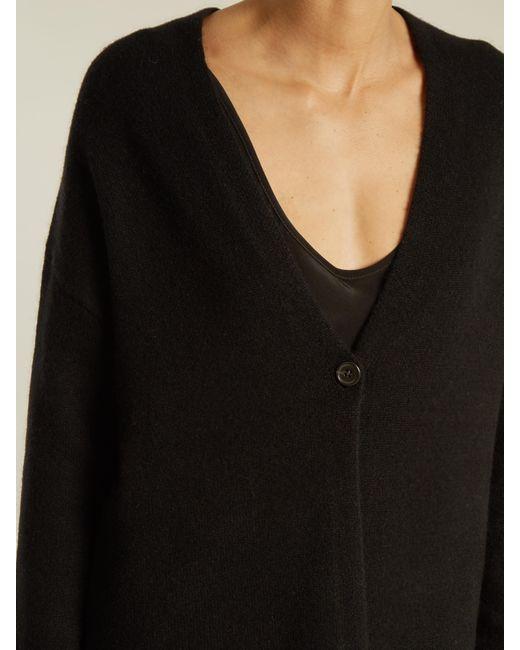 Nili lotan Clarissa V-neck Cashmere Cardigan in Black | Lyst