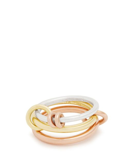 Spinelli Kilcollin - Metallic Raneth Silver, Yellow & Rose-gold Ring - Lyst
