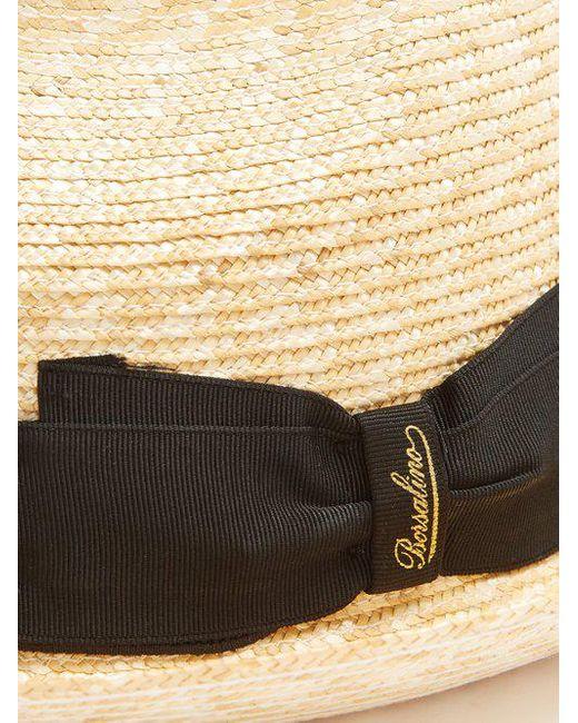 ... Borsalino - Natural - Striped Band Panama Hat - Mens - Beige Multi for  Men ... ad51b3bb6c60