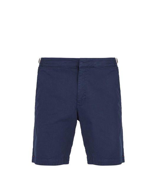 30ce5420af Orlebar Brown - Blue Dane Ii Cotton Blend Twill Shorts for Men - Lyst ...