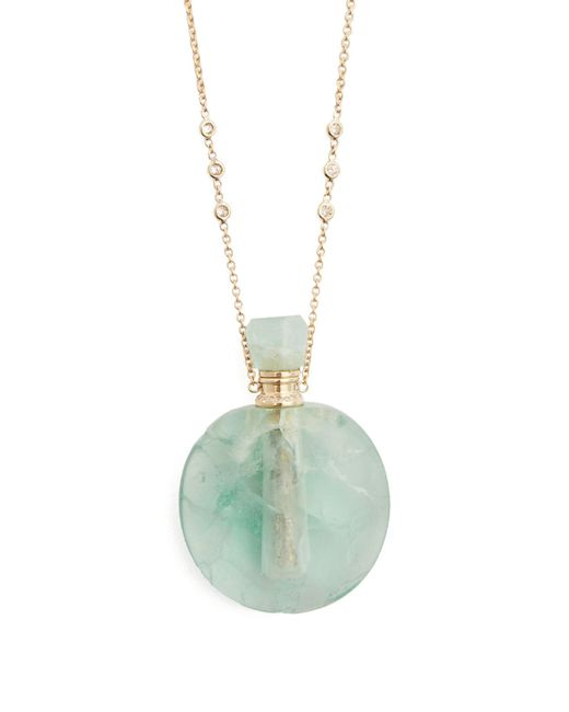 Jacquie Aiche - Blue Diamond, Fluorite & Yellow-gold Necklace - Lyst