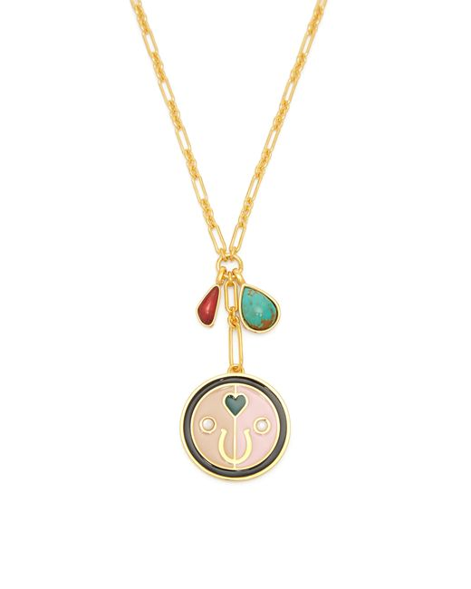 Lizzie Fortunato - Metallic Lucky Pink Pendant Charm Necklace - Lyst