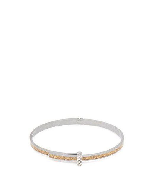 Bottega Veneta - Metallic Dichotomy Intrecciato-engraved Bracelet - Lyst