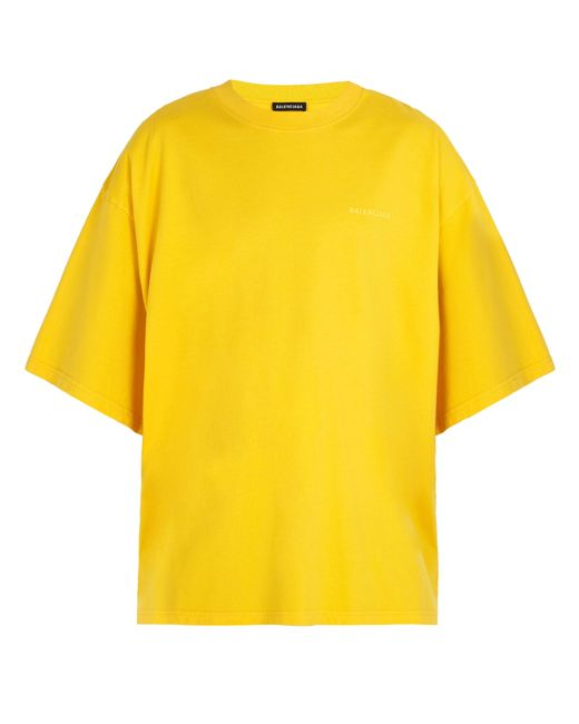 Balenciaga - Yellow Self Help Print Cotton T Shirt for Men - Lyst
