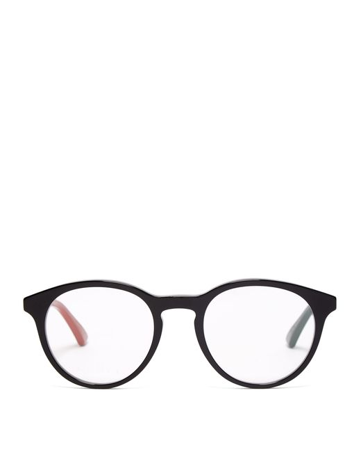 45d5b80c799 Gucci - Black Round Frame Acetate Glasses for Men - Lyst ...