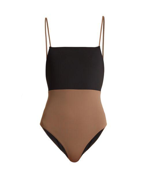 Mara Hoffman   Multicolor Contrast-panel Swimsuit   Lyst
