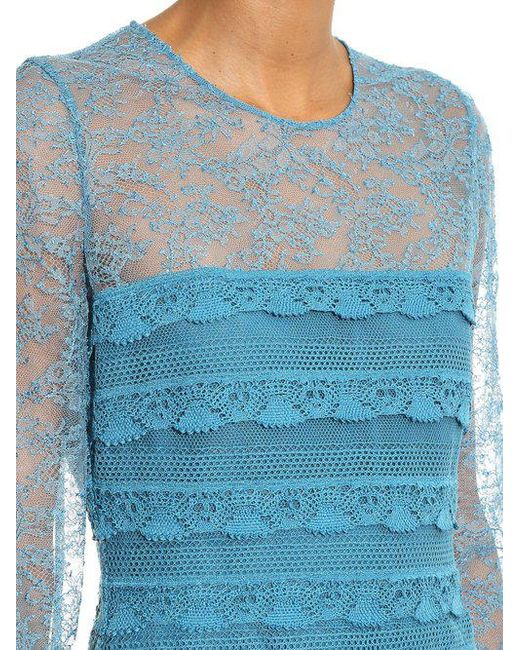 Really For Sale Long-sleeved tiered-lace dress Burberry Discounts AynQAL6sm