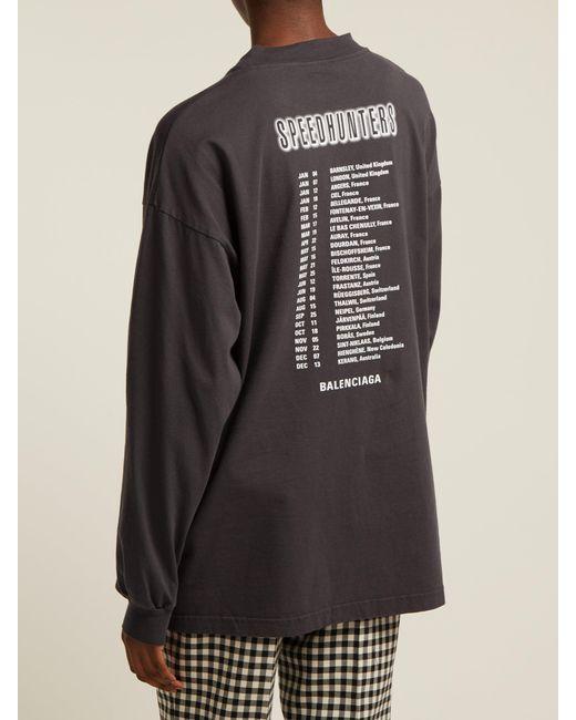 adb5ab9e808f ... Balenciaga - Black Speedhunters Long Sleeve T-shirt - Lyst ...