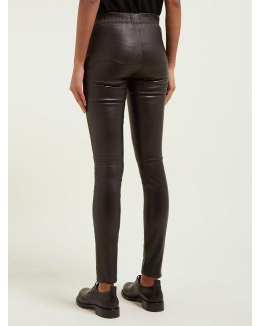 8f482f37d2306c ... Joseph - Black Classic Leather Leggings - Lyst ...